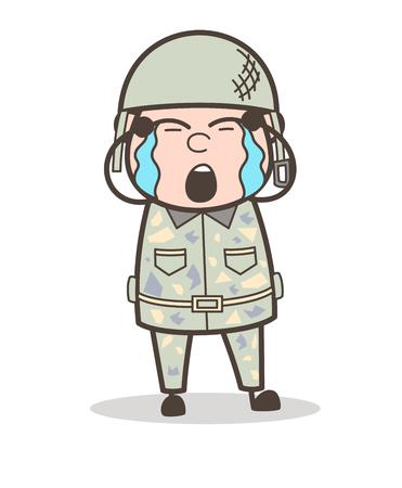Cartoon Grandpa Winking Face Vector Illustration