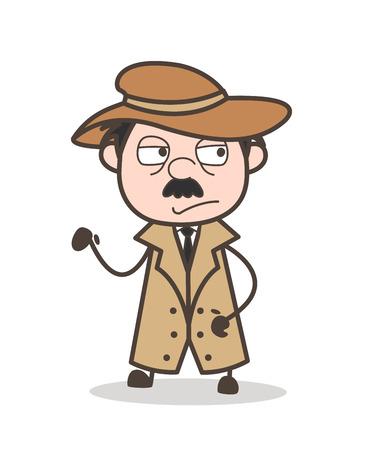 Cartoon Dead Old Man Vector Illustration