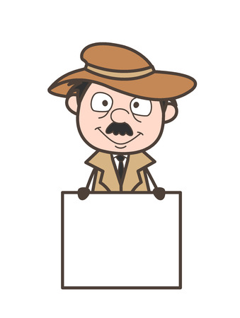 Cartoon Old Uncle Chatting on Mobile Vector Illustration