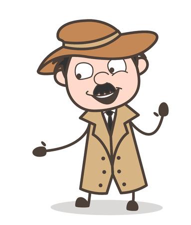 Cartoon Sad Old Person Vector Expression Illustration