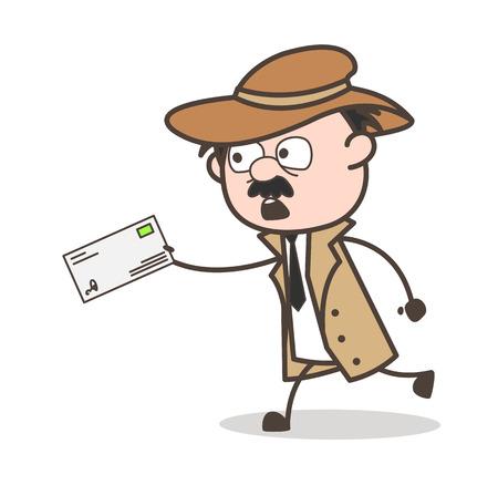 Cartoon Grandpa Marketing for Digital Camera Vector Illustration  イラスト・ベクター素材