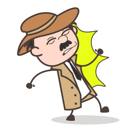 漫画おじいちゃん不幸な式ベクトル図 写真素材 - 83657680