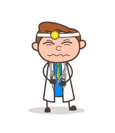 만화 할아버지 떨리는 공포 벡터 일러스트 레이션 스톡 콘텐츠 - 83657917