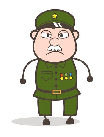 오래 된 화가 군인의 만화 그림입니다.