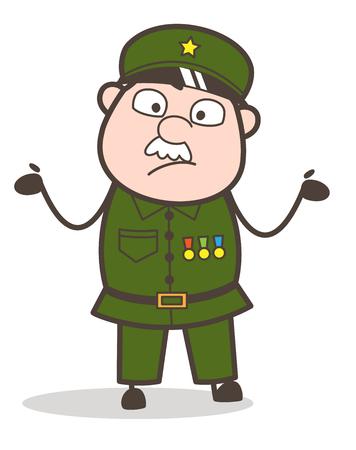 混乱している老兵の漫画。