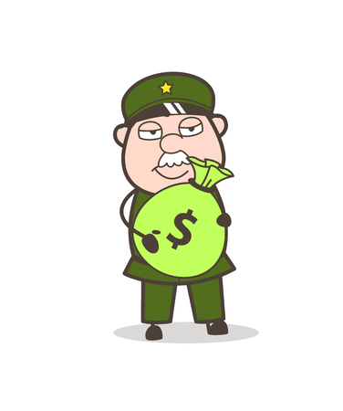 Cartoon Excited Old Woman Gesturing Vector  イラスト・ベクター素材