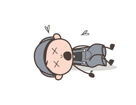 Cartoon Dead Boy Vector Concept