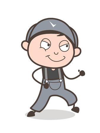 Cartoon Young Boy Running Pose Vector Illustration Illustration