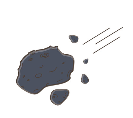 Cartoon Asteroid Vector Illustration