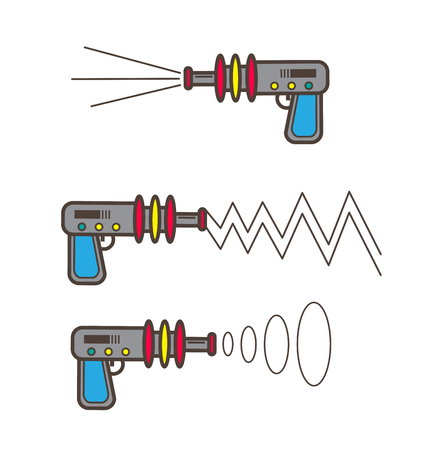 Cartoon Toy Guns Vector Set