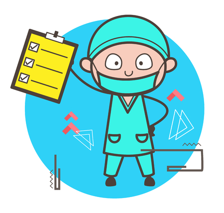 medico: Cartoon Therapist Showing Camera Vector Illustration