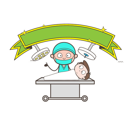 Cartoon Super-Hero Surgeon Vector Character