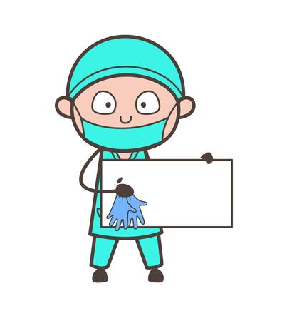 meditation man: Cartoon Surgeon Doing Yoga Vector Illustration Illustration