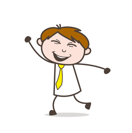 Cartoon Young Boy Dancing Illustration
