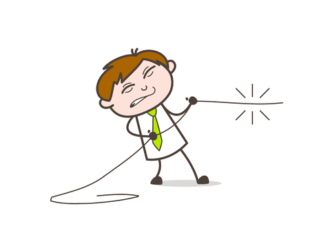 A Man Pulling a Rope Ilustrace