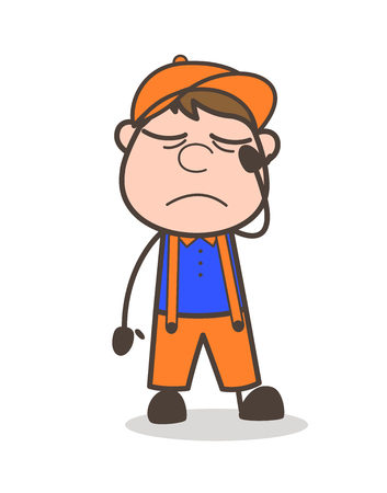 Cartoon Excited and Happy Postman Expression Vector