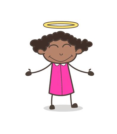 Good Heart Girl with Halo Ilustração