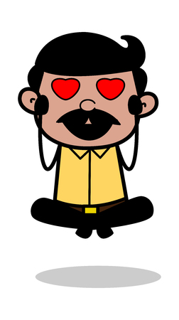 Crazy in Love - Indian Cartoon Man Father Vector Illustration