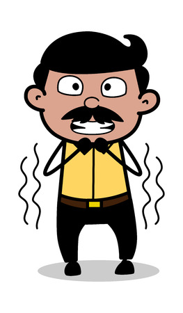 Shivering - Indian Cartoon Man Father Vector Illustration Standard-Bild - 120309629