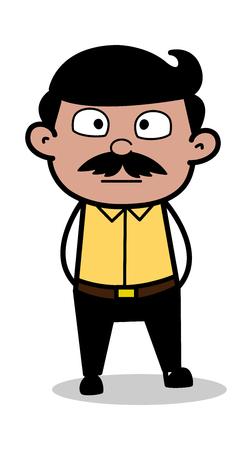 Astonished - Indian Cartoon Man Father Vector Illustration