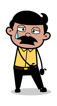 Aweary - Indian Cartoon Man Father Vector Illustration Illustration