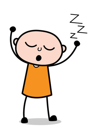 Sleeping - Cartoon thief criminal Guy Vector Illustration