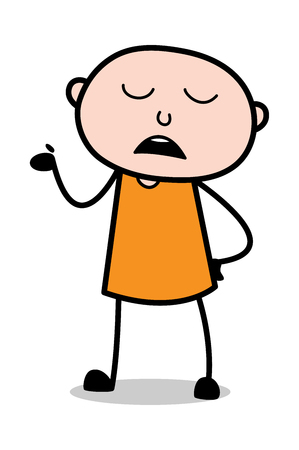 Sorgloser Ausdruck - Cartoon-Dieb krimineller Kerl Vektor-Illustration Vektorgrafik
