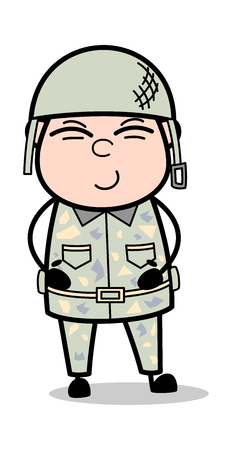 Tickle - Cute Army Man Cartoon Soldier Vector Illustration