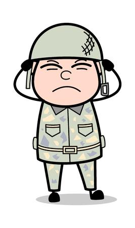 Noise - Cute Army Man Cartoon Soldier Vector Illustration Illustration