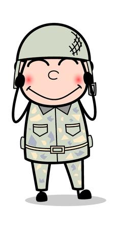 Blush - Cute Army Man Cartoon Soldier Vector Illustration