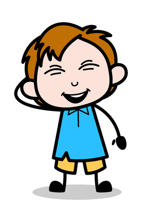 Joke - School Boy Cartoon Character Vector Illustration