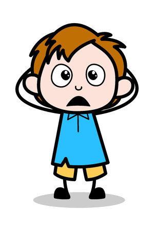 Wonder - School Boy Cartoon Character Vector Illustration