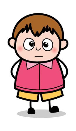 Very Scared - Teenager Cartoon Fat Boy Vector Illustration
