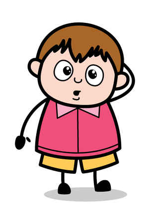 Angry - School Boy Cartoon Character Vector Illustration Illustration