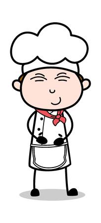 Tickle - Cartoon Waiter Male Chef Vector Illustration