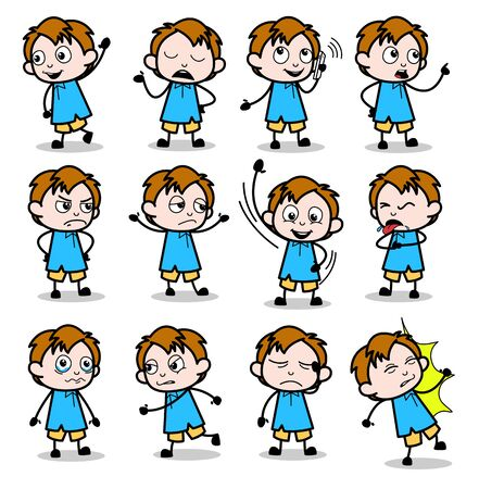 Cartoon Lovely Office Guy - Set of Concepts Vector illustrations
