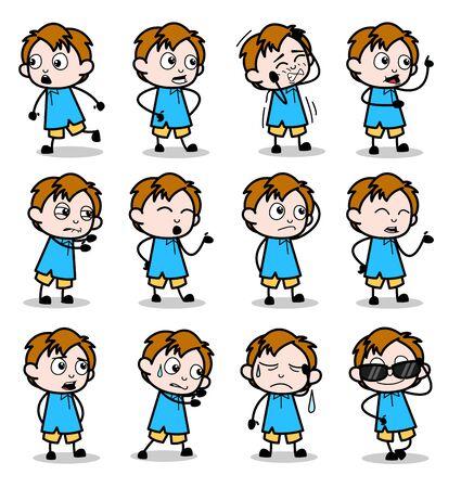 Dwarf Cartoon Office Guy - Set of Concepts Vector illustrations 矢量图像