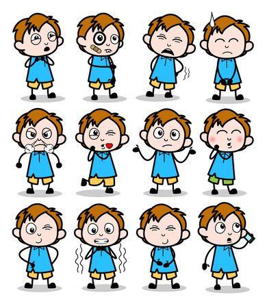 Cute Comic Office Guy - Set of Concepts Vector illustrations
