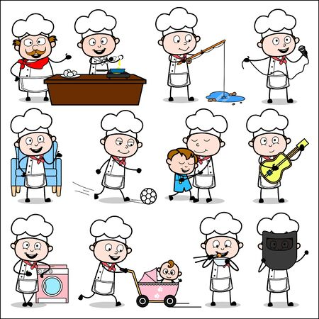 Cartoon Chef - Different of Concepts Vector illustrations