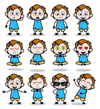 Lovely Comic Office Guy - Set of Concepts Vector illustrations 스톡 콘텐츠 - 137789664