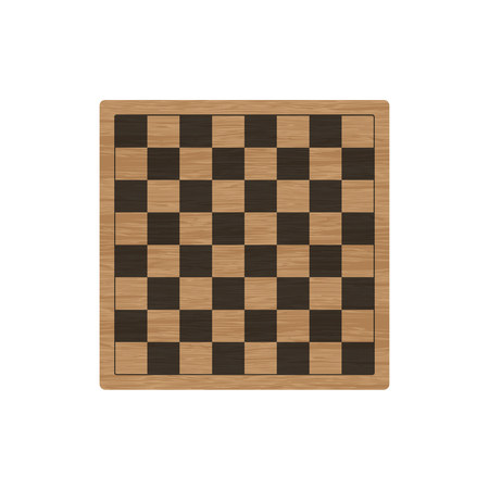 Chess Checkers Board Vector Illustration