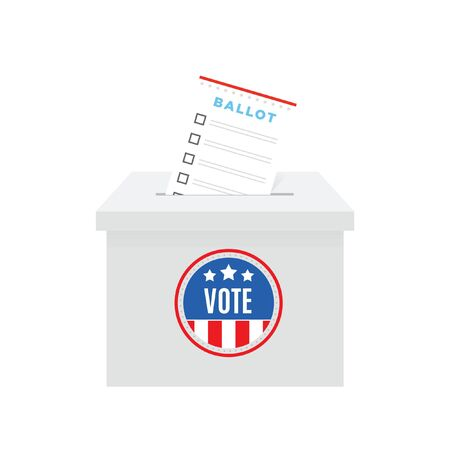Vote Ballot Box Vector Illustration Background 일러스트