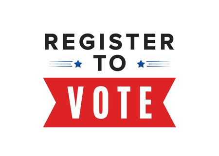Register To Vote Vector Text Illustration