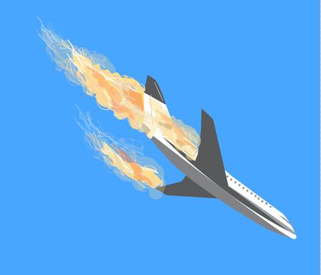 accidente de avión, Plano de accidentes, aviones de bombardeo, accidentes de avión, el terrorismo en avión, las aeronaves que pertenezcan, acto terrorista, desplome del aire del icono del vector, vector de avión, avión de accidente vector, accidente de avión de pasajeros de aire