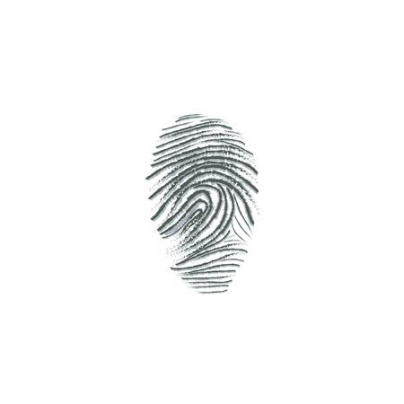 fingermark: fingerprint dactylogram finger-mark vector illustration  on white background Illustration