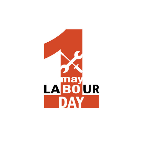 Labour Day. 1st may vector logo.