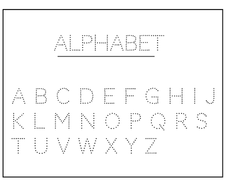 Alphabet letters.  The alphabet is dotted. English alphabet, calligraphy, lettering