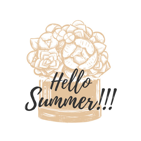 Hello summer flower design