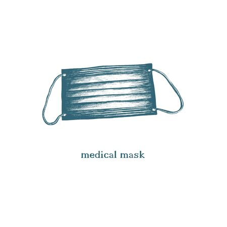 Medical mask vector illustration.