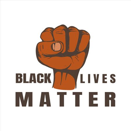 Black lives matter vector illustration. Fist